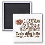 Life is Like a Doughnut Refrigerator Magnet