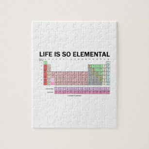 Periodic table jigsaw puzzles zazzle life is so elemental periodic table of elements jigsaw puzzle urtaz Image collections