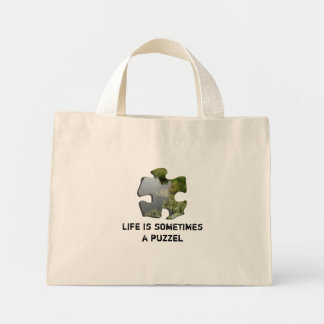 Life is sometimes a puzzel mini tote bag