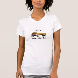 Life Is Wienderful Ladies T-Shirt
