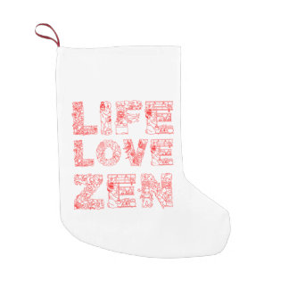 Life, Love, Zen Small Christmas Stocking