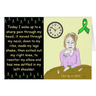 Life of a Lymie Lyme Disease Sick Lady Cartoon Greeting Card