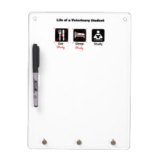 Life of a Vet Student Small Key Board Dry Erase Whiteboards
