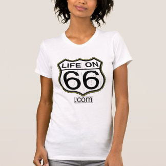 Life On 66 Ladies Casual (Wooden logo) T-shirt