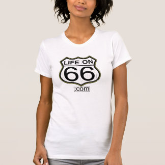Life On 66 Ladies T (Wooden logo) Shirt