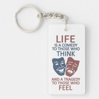 LIFE quote key chain