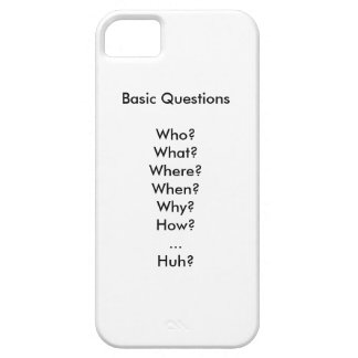 Life s Basic Questions iPhone 5/5S Covers