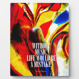 Life without music - Abstract Plaque