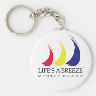 Life's a Breeze™_Paint-The-Wind_Myrtle Beach Basic Round Button Key Ring