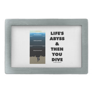 Life's Abyss And Then You Dive (Pelagic Zone) Belt Buckle