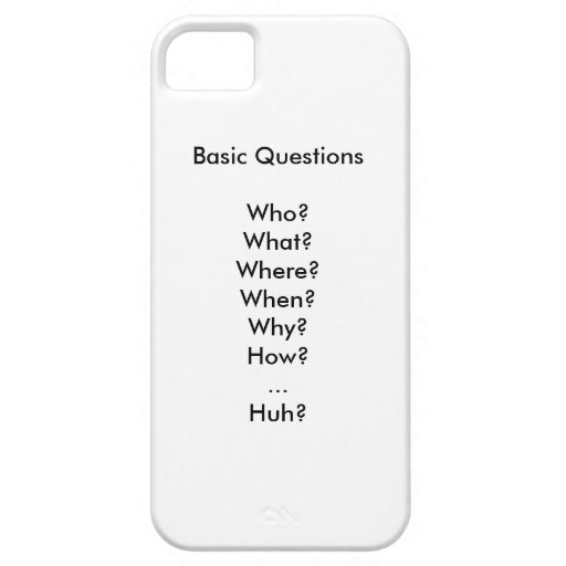Life's Basic Questions iPhone 5/5S Covers