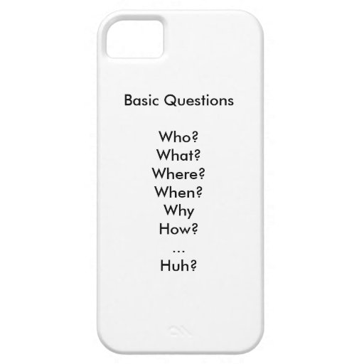 Life's Basic Questions iPhone 5/5S Cases