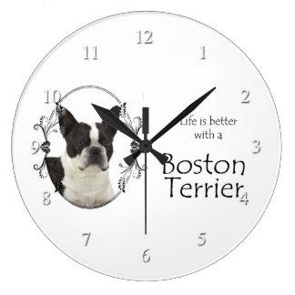 Life's Better Boston Terrier Clock