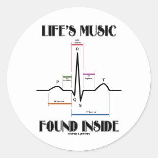 Life's Music Found Inside (ECG/EKG Heartbeat) Sticker