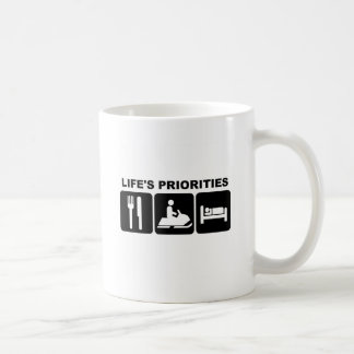 Life's priorities, skidooing coffee mug