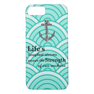 Life's roughest storms Blue Anchor Blue wave iPhone 8/7 Case