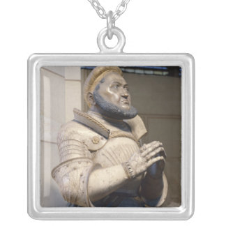 Lifesize Alabaster Statue of the Elector Silver Plated Necklace