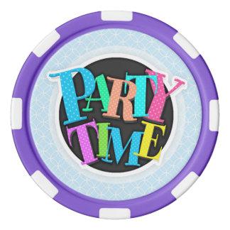 Light Baby Blue Circles Set Of Poker Chips