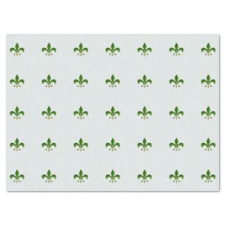 light Background with Green Fleur de Lis Tissue Paper