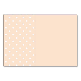 Light Bisque Polka Dot Template Table Card