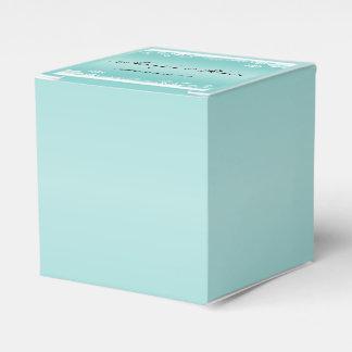 Light Blue and White Snowflake Wedding Favor Box Favour Boxes