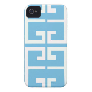 Light Blue and White Tile iPhone 4 Covers