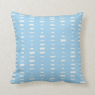 Light Blue Block Stripe Pillow