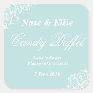 Light blue candy buffet Sticker