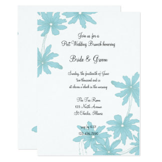 Light Blue Daisies Post Wedding Brunch Invitation