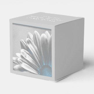 Light Blue Floral Highlights Wedding Favour Box
