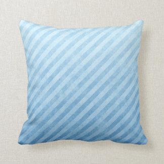 Light Blue Grunge Stripes Cushion