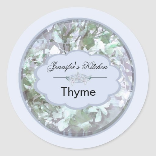 light blue orchids small jar labels 2 round sticker