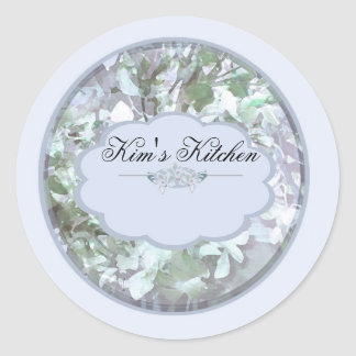 light blue orchids small jar labels b stickers