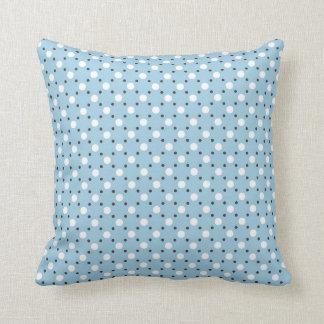 light blue pillow with Polka-Dots Cushion