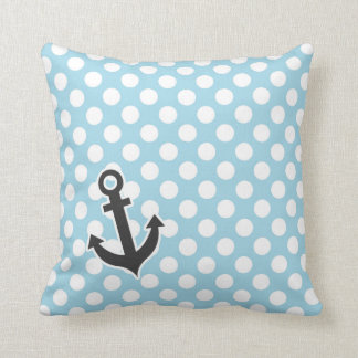 Light Blue Polka Dots; Anchor Cushions