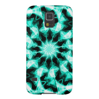Light Blue Reflector Psychedelic Fractal Pattern Case For Galaxy S5