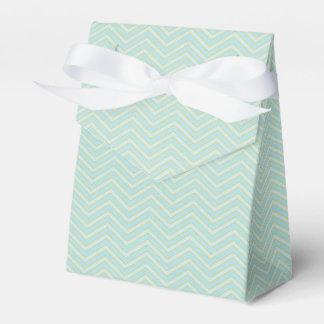 Light Blue Stripe pattern tent favor box