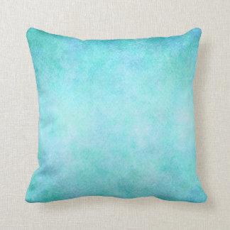 Light Blue Teal Aqua Watercolor Paper Colourful Throw Pillow