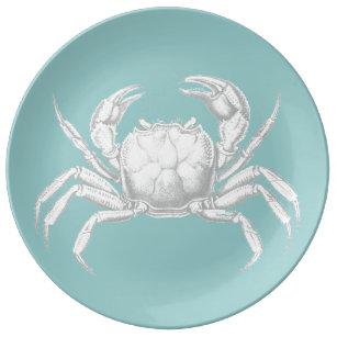 Light blue vintage crab design porcelain plate  sc 1 st  Zazzle NZ & Crab Design Plates | Zazzle.co.nz