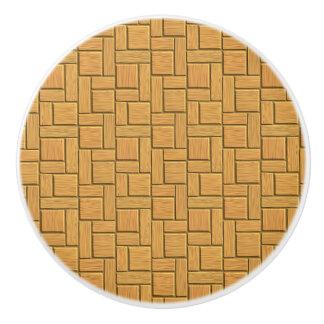 Light Brown Block Design Ceramic Knob