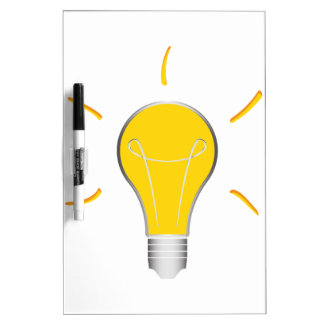 Light Bulb creative idea Dry Erase Board