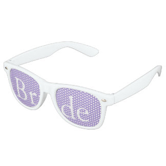 Light Chalky Pastel Purple Wedding Party Set Retro Sunglasses