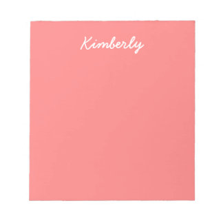 Light Coral Solid Color Notepad