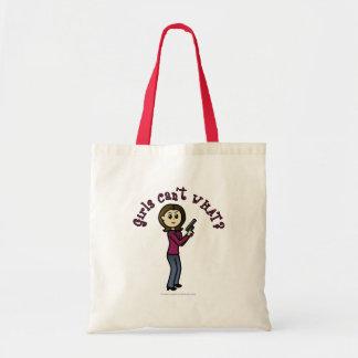 Light Female Sharpshooter Tote Bag