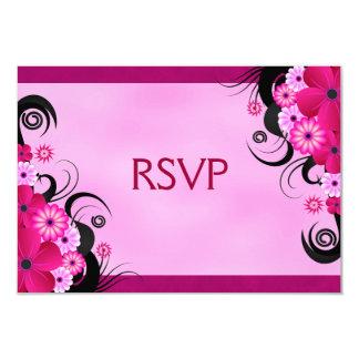 Light Fuchsia Floral Wedding RSVP Response Cards