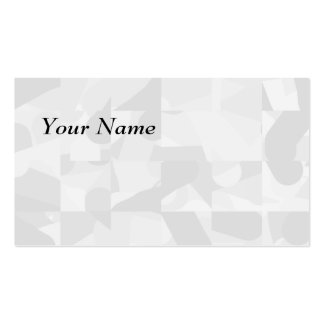 Light Gray Abstract Pattern. Double-Sided Standard Business Cards (Pack Of 100)