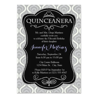 Light Gray and White Geometric Custom Invites