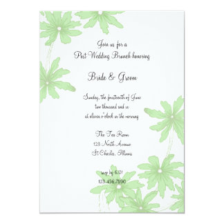 Light Green Daisies Post Wedding Brunch Invitation