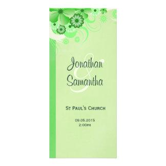 Light Green Floral Wedding Program Rack Cards
