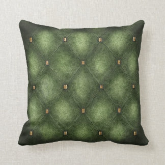 Light Green Quilted Look Cushion